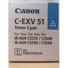 0482C002 Тонер C-EXV51 Бирюзовый